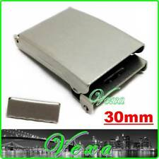 Metal BUCKLE Nickel plated for webbing strap 30mm Silver Set with belt end PN01