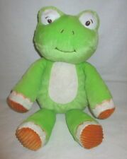 "Animal Adventure Sweet Sprouts Plush Frog Green & Orange Corduroy Feet 15"""
