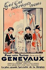 Original Vintage Fashion Poster Genevaux by Jack c1930 Wedding Store French