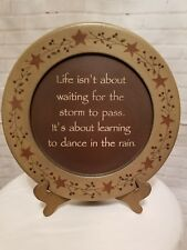 """Hearthside Collection """"Dance In Rain"""" Plate 13""""  Farmhouse ~ Country With Stand"""