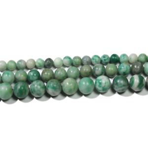 10PCS Round Natural Green Polishing Gemstone Loose Beads 10mm