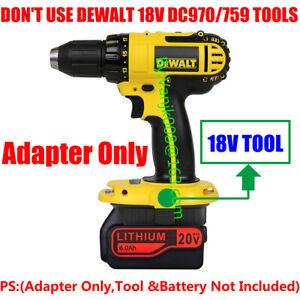 1x Black+Decker 20V MAX Li-Ion Battery To Dewalt 18V Ni-CD Cordless Tool Adapter