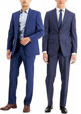 Calvin Klein Men's  X Slim Fit Suit 2 Piece Straight Business Wool Suits Blue