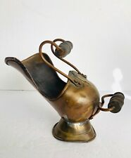 """Antique 19Th Century Copper Pouring Pot Wood  Handles Made in Holland 8"""""""