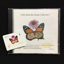 e-Line Butterfly Embroidery Designs Card - For Deco Brother Baby Lock White