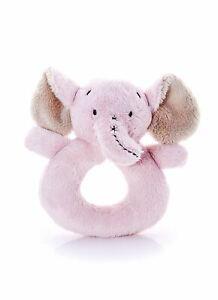 Mousehouse Gifts - Sonajero para bebé - Con elefante - Felpa - Rosa