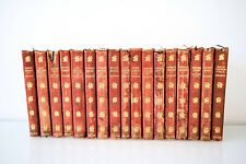 Antique Books Complete Works of Charles Dickens Book Collection Leather 1904-07