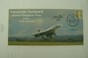 2005 CAMBRIDGE FDC CONCORDE FAREWELL TOUR SIGNED CPT. ANDREW BAILLIE