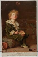 BUBBLES by Sir John Millais Boy with With Bubbles Pears 1907 Postcard E4