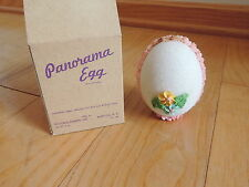 Antique Sugar Panorama Egg w/ Box Easter Decoration Church Farm Scene (b697)