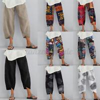 Collège Femme Pantalon Loisir Asymétrique Taille elastique Jambe Large Plus