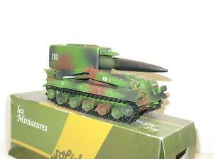 SOLIDO 1X Char militaire AMX 30 missile PLUTON  camouflage 3 tons