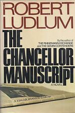 "ROBERT LUDLUM ""The Chancellor Manuscript"" (1977) SIGNED First Printing"