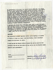 Jack Sharkey signed autographed contract! Boxer! RARE! Guaranteed Authentic!