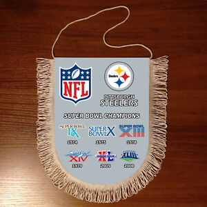 Pennants Pittsburgh Steelers SUPER BOWL CHAMPIONS NFL USA 1966-2020