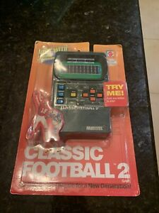 Mattel Classic Football 2 Handheld Electronic Game New Sealed 2002 Vintage