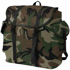 vidaXL Army-Style Backpack 40L Camouflage Outdoor Camping Bag Rucksack Handle