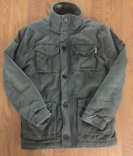 HOLLISTER Mens Khaki Green Utility Bomber Military Jacket Coat Medium