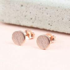 "Minyma ""plate"" círculo pendientes aretes Studs punto Dot Circle Rosegold"
