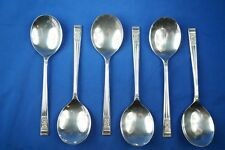 SET OF 6 PEDIGREE PLATE BY T TURNER & CO WINDSOR PATTERN SOUP SPOONS