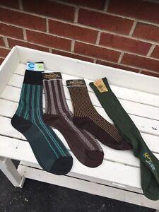 4 Pair Vintage Mens Socks 6/11