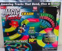 Magic Tracks 10 FT Glow In the Dark Crash Speedway Set/used
