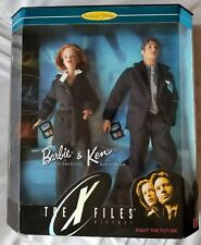 MATTEL Barbie And Ken The X-Files Gift  Collectors Edition Scully Mulder 1998