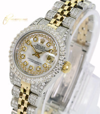 Rolex Lady Datejust 26mm White MOP Fully Loaded Genuine Diamonds -QUICKSET