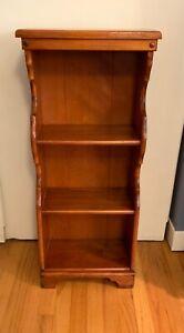 Vintage 1950's Mid-Century Solid Maple Bookcase Frankson