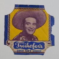 1950's Freihofer's bread label Cisco kid's blue border