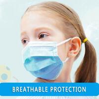 50PC Mascarilla facial que cubre las máscaras bucales para niños de tres colores