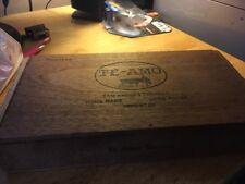 Te-Amo Toritos Wooden Tobacco Box