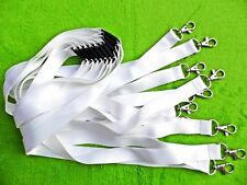 10 x White Blank Lanyard, Neck Strap For Sublimation with Safety Break Clip 20mm
