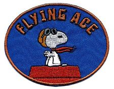 Snoopy pilot flying ace goggles scarf sitting Embroidered Iron On / Sew On Patch