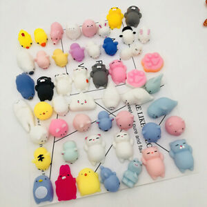 5 Pack Mini Mochi Rising fidget Hand Toy Party Favors for Kids Squishys