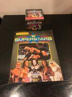 Panini 1997 WWF Superstars wrestling stickers sealed box(50 packets)+Empty Album