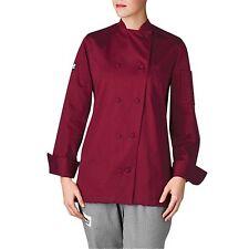 New Chefwear Women'S Organic Cotton Traditional Chef Coat Burgundy