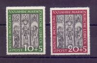 Bund 1951 - Marienkirche Lübeck MiNr 139/140 ungebraucht*- Michel 75,00 € (882)