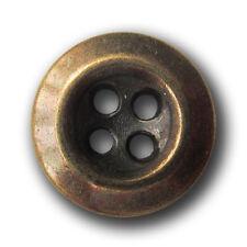 10 kleine altmessingfarb. Metall Puppen Blusen oder Hemden Knöpfe (pu003m-13mm)