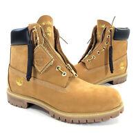 Mens Timberland x DTLR 6-inch Premium Wheat Zip Up Boots Size 11.5 TB0A1QVJ 231