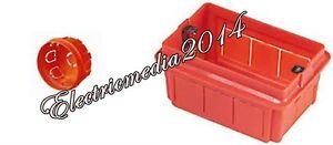 CASSETTA SCATOLA DI DERIVAZIONE DA INCASSO 3 MODULI 503 E ROTONDE DIAM. 65 E 85