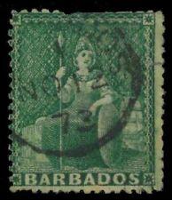 """BARBADOS 24i (SG43i) - Allegory of Britannia """"1870 Deep Green"""" (pf64154)"""