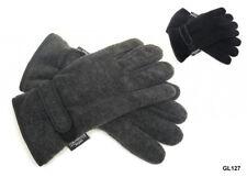 Mens 3m Thinsulate Fleece Gloves Warm Thermal Winter Black/ Grey