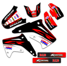 1995 1996 1997 HONDA CR 125 R DIRT BIKE GRAPHICS KIT FACTORY: RED DECALS MX DECO