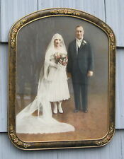 Antique Curved Top Victorian Picture Frame Bride Groom Photo 10~14