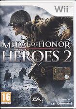 MEDAL OF HONOR HEROES 2 - NINTENDO WII WII-U NUOVO, PRIMA EDIZIONE ITALIANA