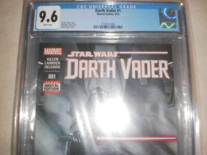STAR WARS DARTH VADER 1 CGC 9.6 DIGITAL 2015 EDITION