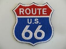"""ROUTE US 66 Embroidered Patches 2.5"""" x 2.5"""" Sew or Iron on"""