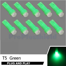 10pcs T5 COB 0.5W Green LED 74 73 Dashboard Gauge Instrument Panel Light