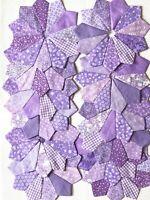 DRESDEN PLATES Quilt Blocks, All Lavender No Raw Edges, Set Of 12, 100% Cotton
